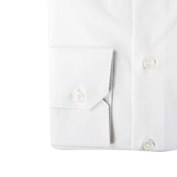 Roberto Cavalli Slim-Fit Embroidered Dress Shirt in White - ACCESSX