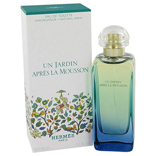 HERMES UN JARDIN APRES LA MOUSSON EAU DE TOILETTE Natural Spray 3.3 FL. OZ - ACCESSX