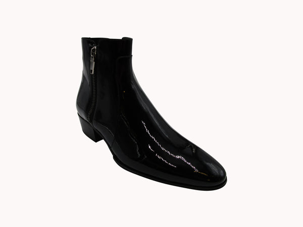 BALMAIN SIDE ZIP ANKLE BOOTS