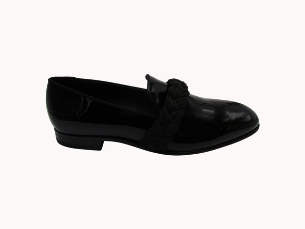 BALMAIN MIRROR EFFECT PATENT LEAHER LOAFERS