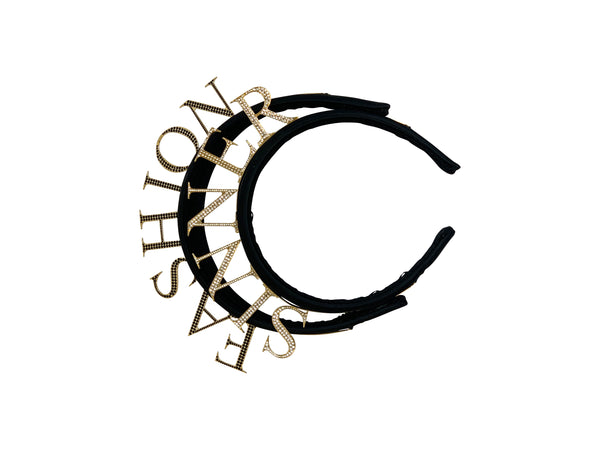 Dolce and Gabbana Womens Dual Row Fashion Sinner Headband - ACCESSX
