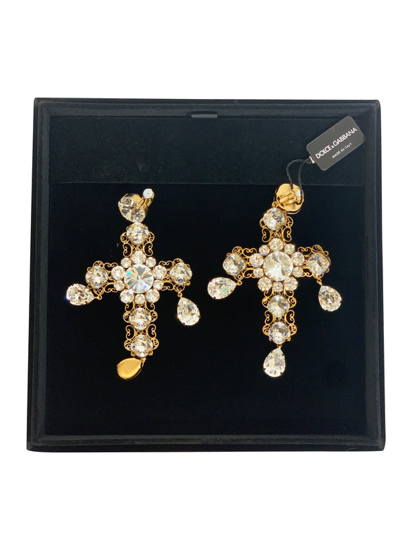 Dolce and Gabbana Womens Gold Earrings - ACCESSX