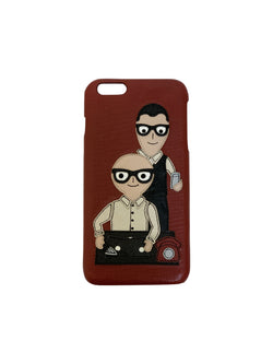 Dolce and Gabbana Red Print Phone Case - ACCESSX