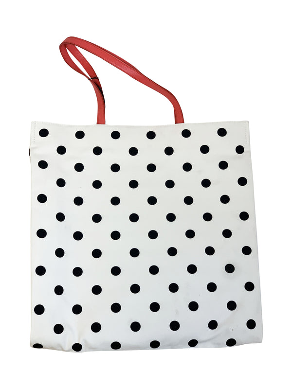 Dolce and Gabbana Womens White Polka Dot Handbag - ACCESSX
