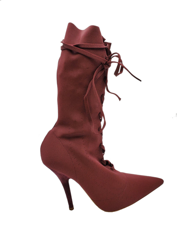 YEEZY POINTED LACE-UP BOOTS - ACCESSX