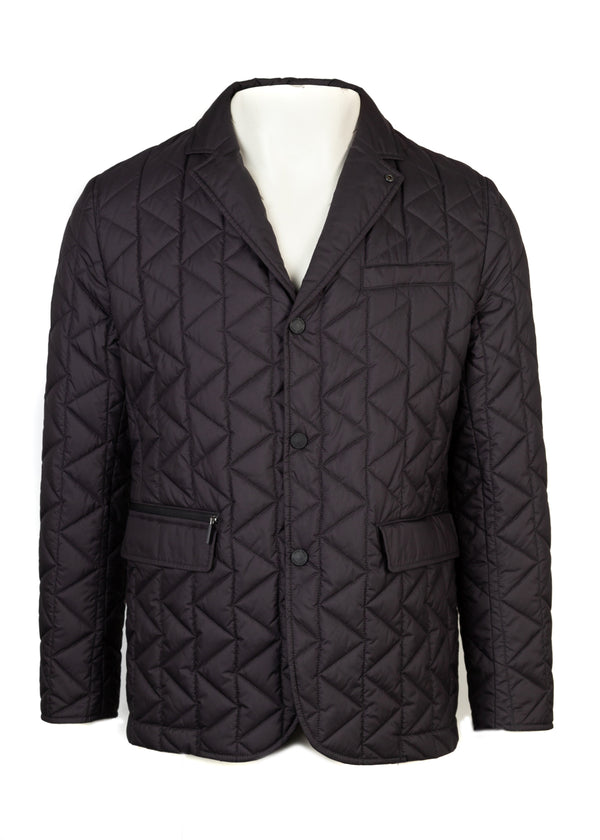 BOSS By Hugo Boss Mens Navy Jord Quilted Jacket - ACCESSX
