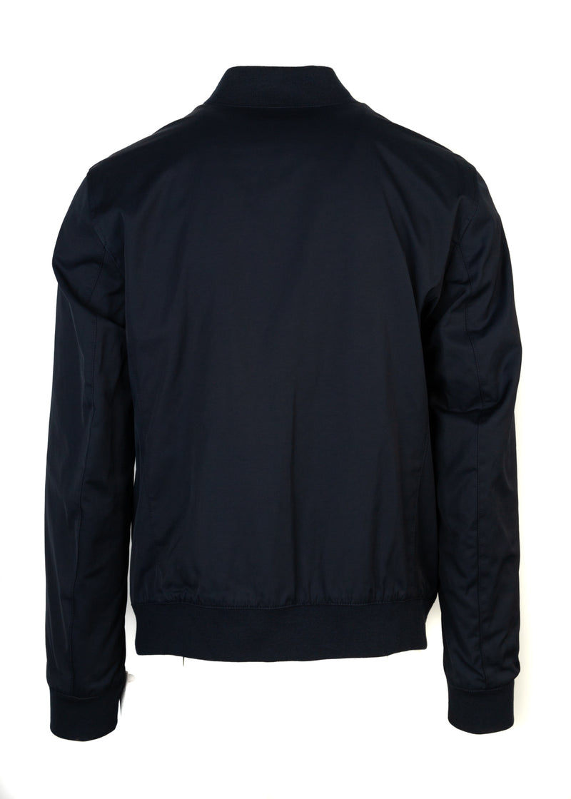 BOSS By Hugo Boss Mens Navy Reversible Coram Bomber Jacket - ACCESSX