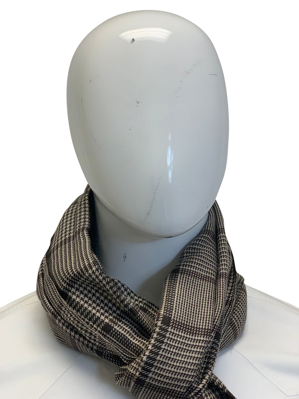 Tom Ford Mens Brown Wool Multicolored Scarf - ACCESSX