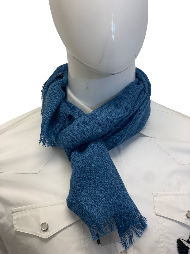 Tom Ford Mens Light Blue Scarf - ACCESSX