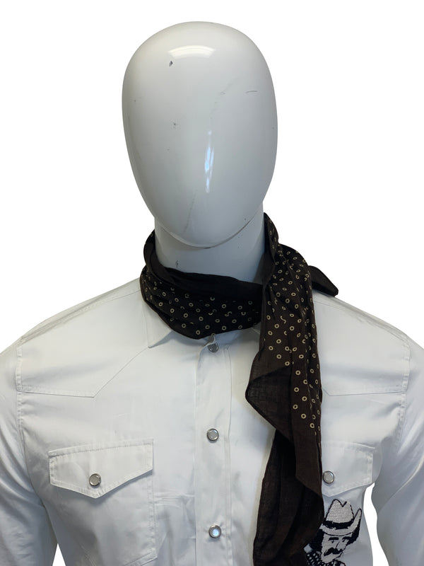 Tom Ford Mens Dark Brown Polka Dot Scarf - ACCESSX