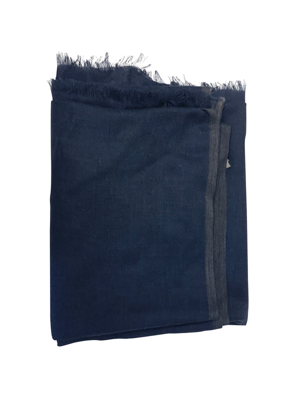 Tom Ford Mens Navy/Grey Scarf - ACCESSX