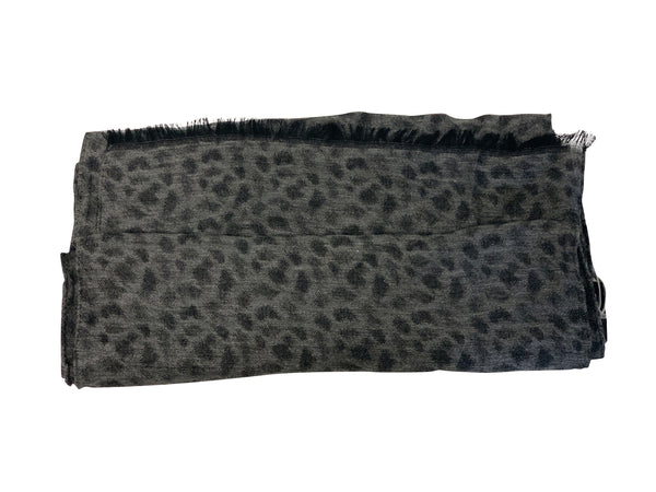 Tom Ford Mens Grey and Black Scarf - ACCESSX