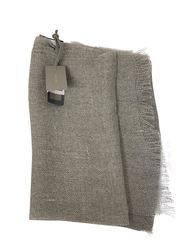 Tom Ford Mens Classic Grey Wool Scarf - ACCESSX