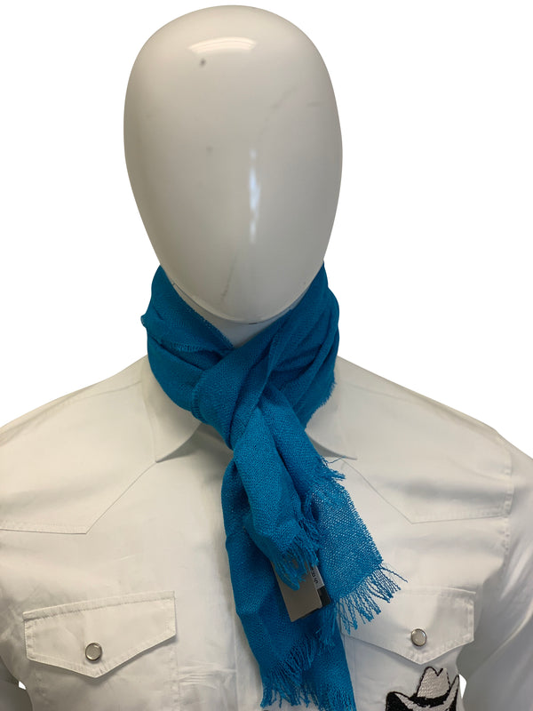Tom Ford Mens Electric Blue Scarf - ACCESSX
