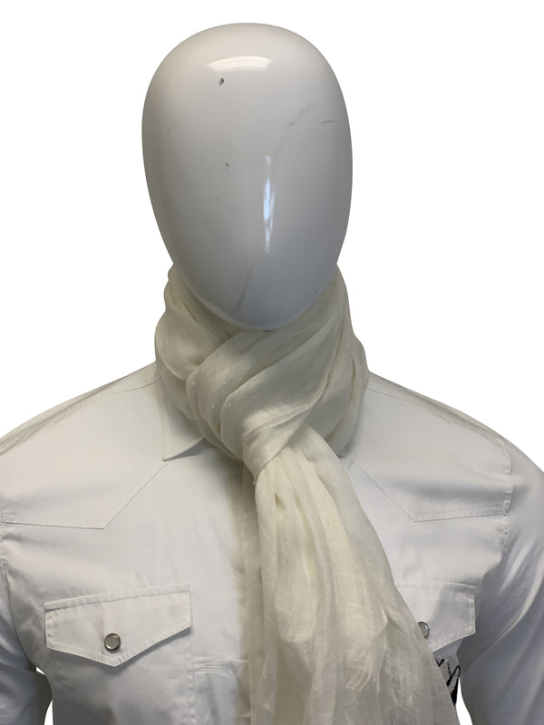 Tom Ford Mens White Scarf - ACCESSX