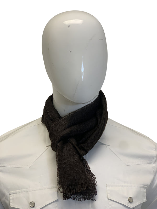 Tom Ford Mens Dark Brown Scarf - ACCESSX