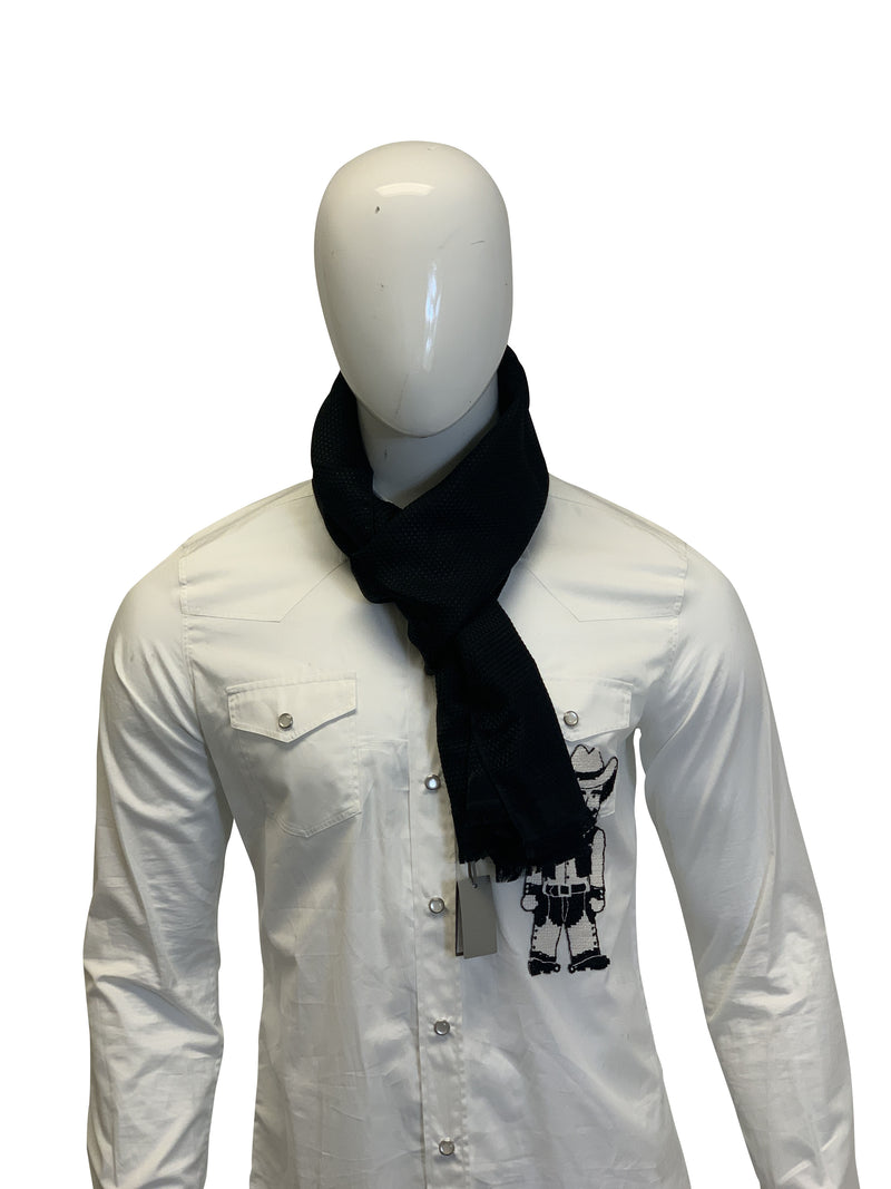 Tom Ford Mens Black Suede Scarf - ACCESSX