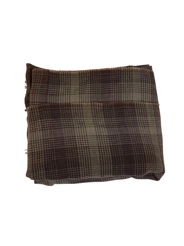 Tom Ford Mens Brown Multicolored Stripped Scarf - ACCESSX