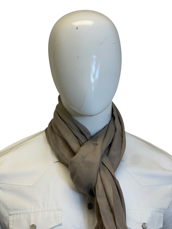 Tom Ford Mens Classic Light Grey Scarf - ACCESSX