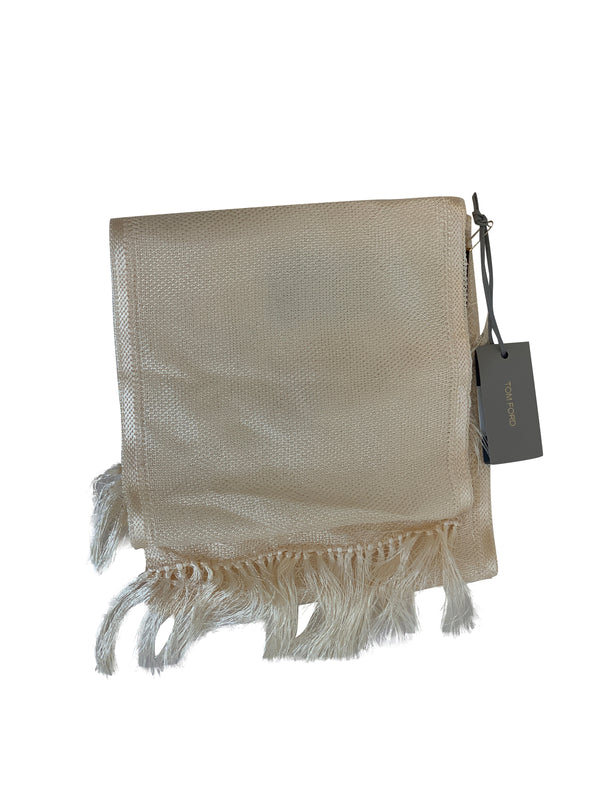 Tom Ford Mens Classic Cream Scarf - ACCESSX