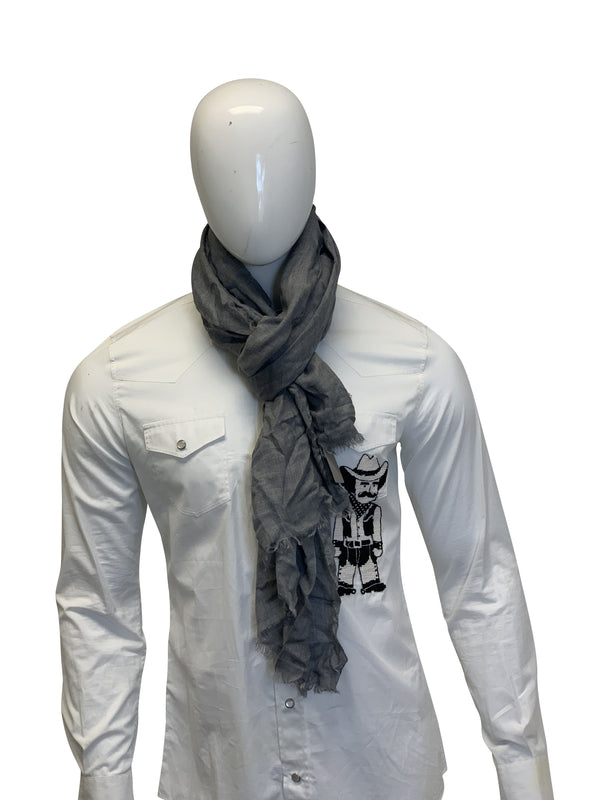Tom Ford Mens Classic Grey Scarf - ACCESSX