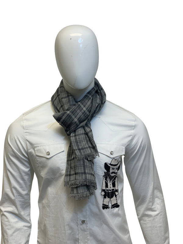 Tom Ford Mens Grey Multicolored Scarf - ACCESSX