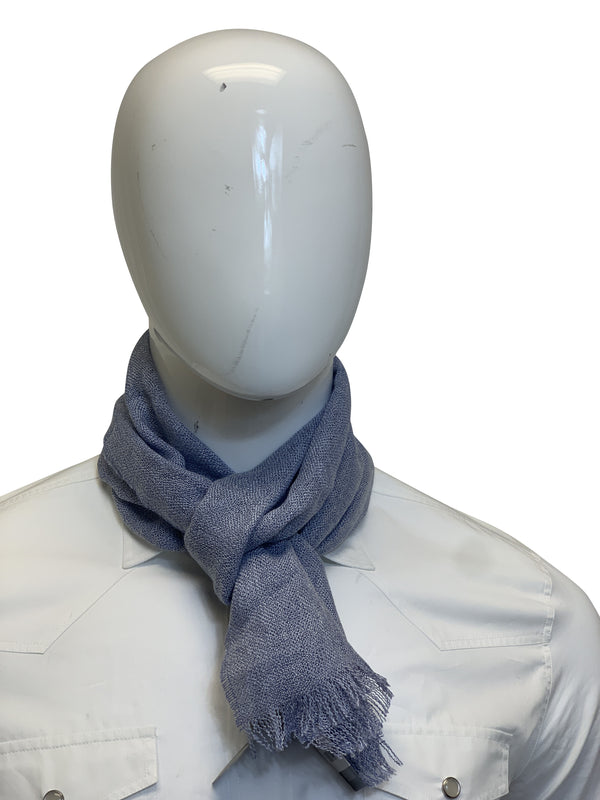 Tom Ford Mens Light Grey Wool Scarf - ACCESSX