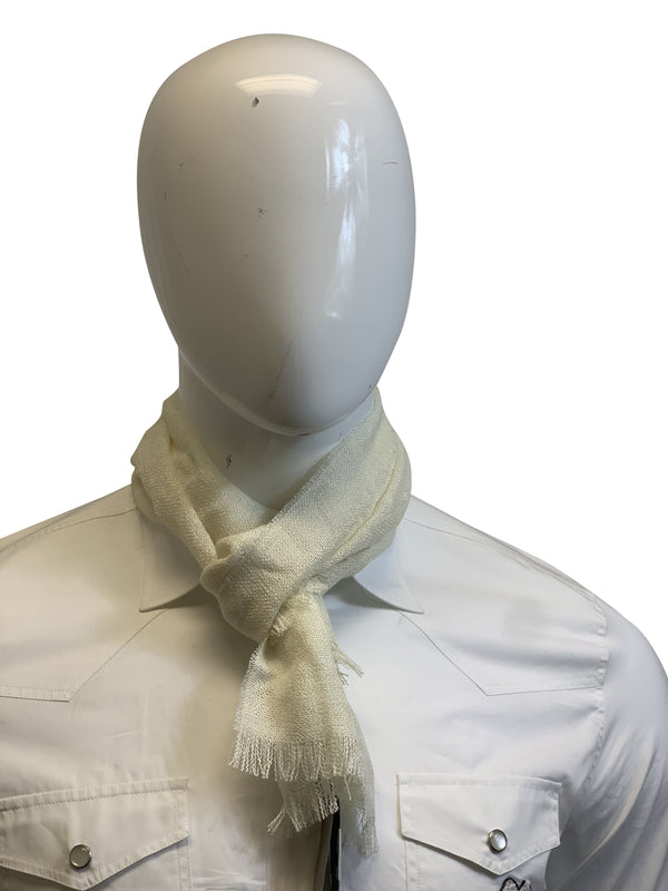 Tom Ford Mens Cream Scarf - ACCESSX