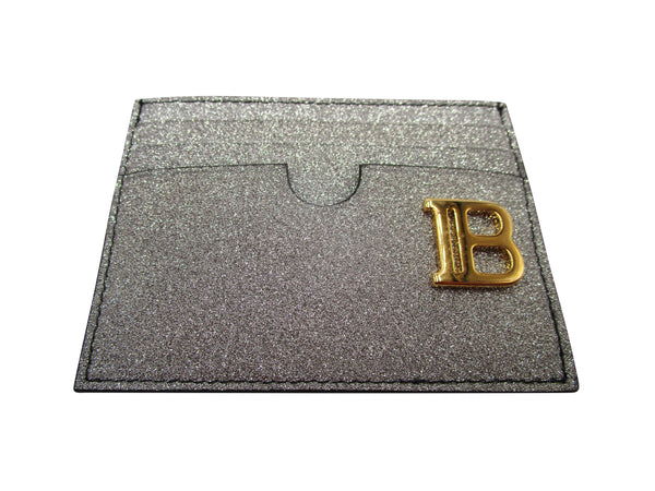 BALMAIN GLITTERED CARD HOLDER WALLET