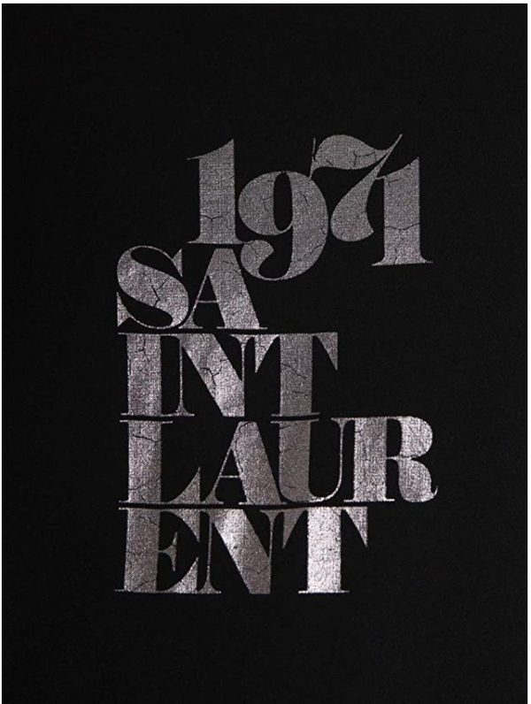 Saint Laurent 1971 Black T-Shirt - ACCESSX