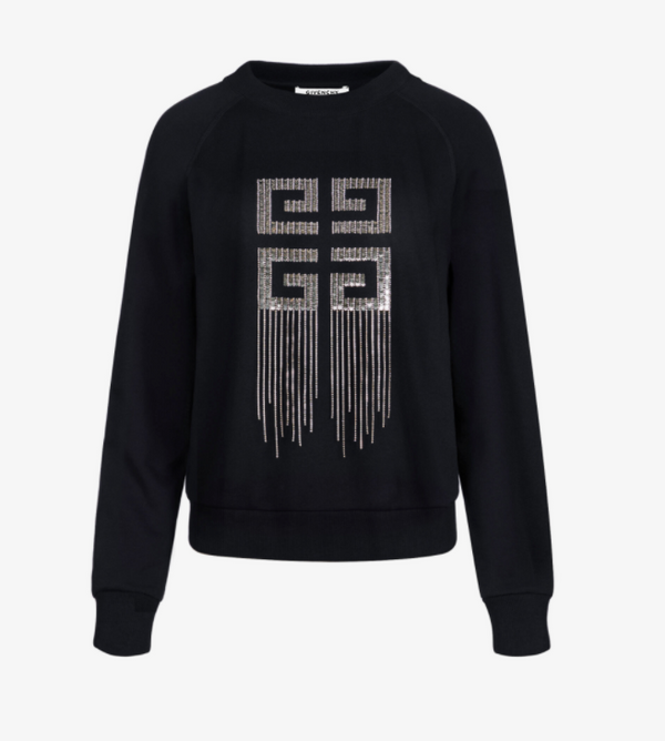 Givenchy 4G Embroidery Sweatshirt in Sequins and Crystals - ACCESSX