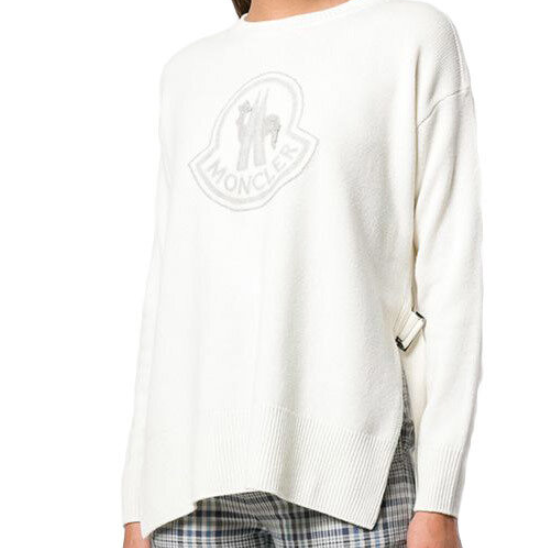 Moncler Logo Knit Sweater - ACCESSX