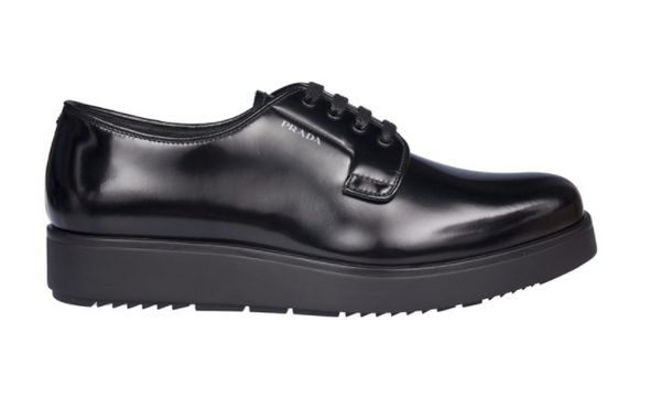 Prada Men's Black Leather Lace Up - ACCESSX