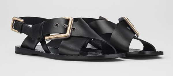 Bottega Veneta Womens Sandals in Nero Calf - ACCESSX