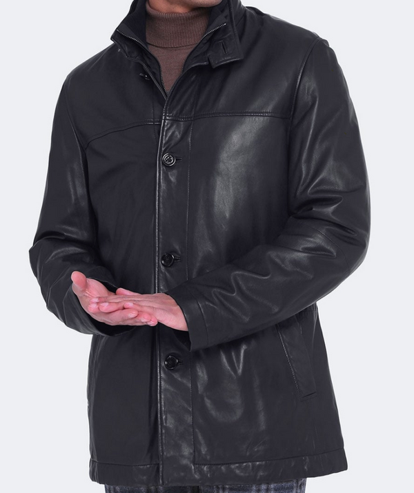Hugo Boss Leather Askal Jacket - ACCESSX