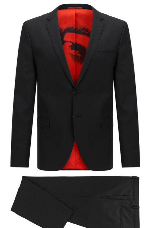 Hugo Boss Black Belko Printed Suit - ACCESSX