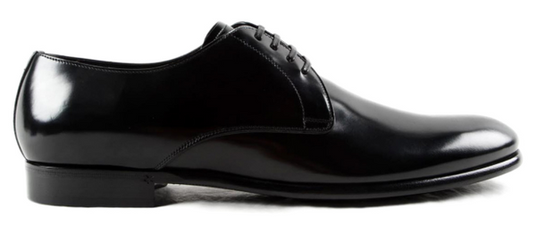 Dolce & Gabbana Brushed Leather Derby in Black - ACCESSX