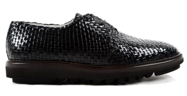Dolce & Gabbana Weave Leather Derby Shoes - ACCESSX