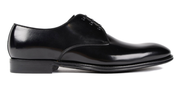 Dolce & Gabbana Leather Tapered Toe Derby Shoes