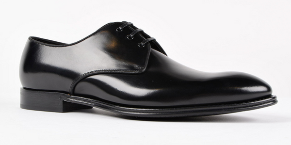 Dolce & Gabbana Leather Tapered Toe Derby Shoes - ACCESSX