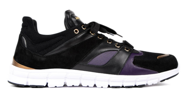 Dolce & Gabbana Leather And Suede Running Shoe - ACCESSX