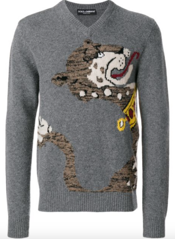 Dolce & Gabbana Pet Embroidered Sweater - ACCESSX