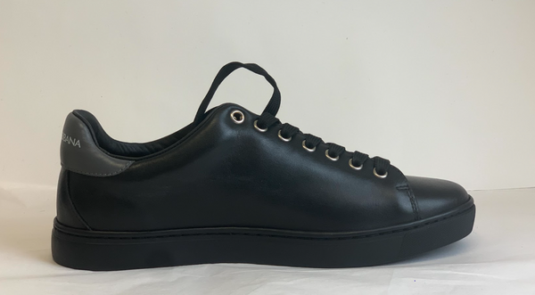 Dolce & Gabbana Character Leather Sneakers In Black & Gray - ACCESSX