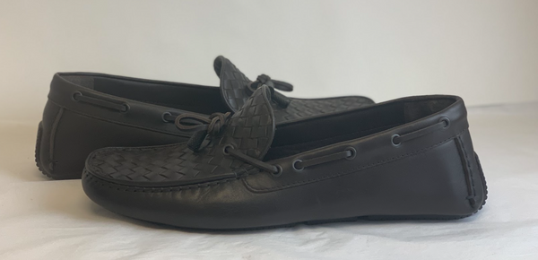 Bottega Veneta Intrecciato Loafers in Brown - ACCESSX