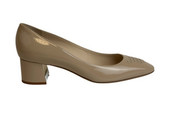 Bottega Veneta Beige Cherbourg In Mink Patent Calf Intrecciato Pumps - ACCESSX