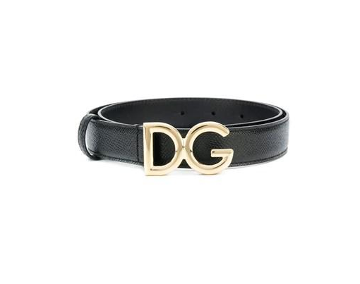 Dolce and Gabbana Womens Black Leather  Belt - ACCESSX