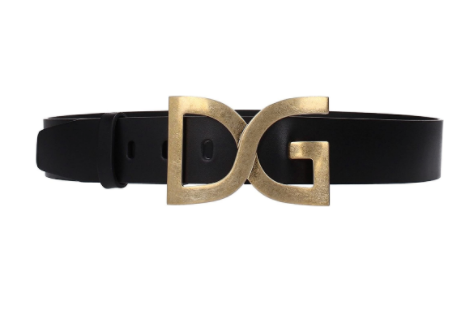 Dolce & Gabbana Mens Black Leather Belt - ACCESSX