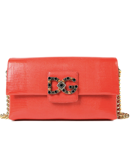 Dolce & Gabbana Red Leather Shoulder Bag - ACCESSX