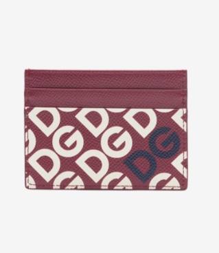 Dolce & Gabbana Burgundy Leather Card Holder - ACCESSX