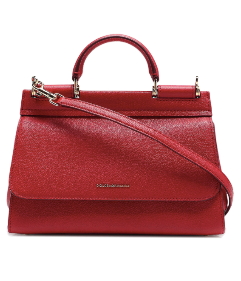 Dolce and Gabbana Womens Red Sicily Soft Small Bag - ACCESSX